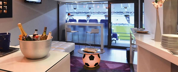 Table foot basse pour loge VIP