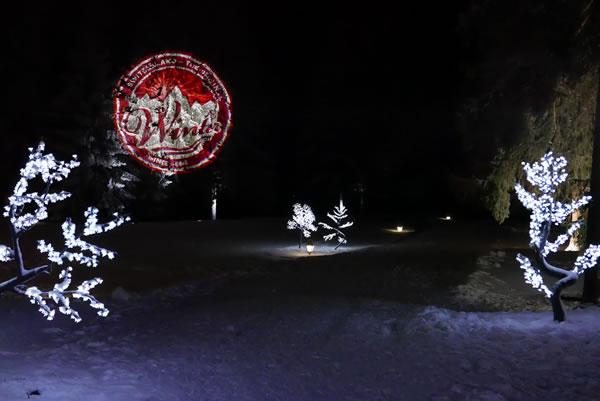 Arbres lumineux à l'hotel du Golf Suisse