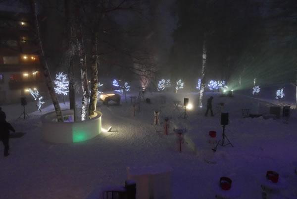 Arbres lumineux LED à Crans-Montana