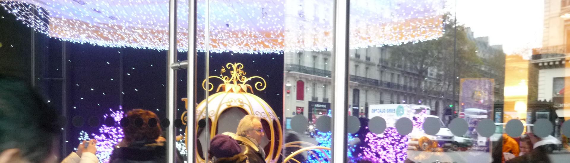 Décoration de vitrine de Noël
