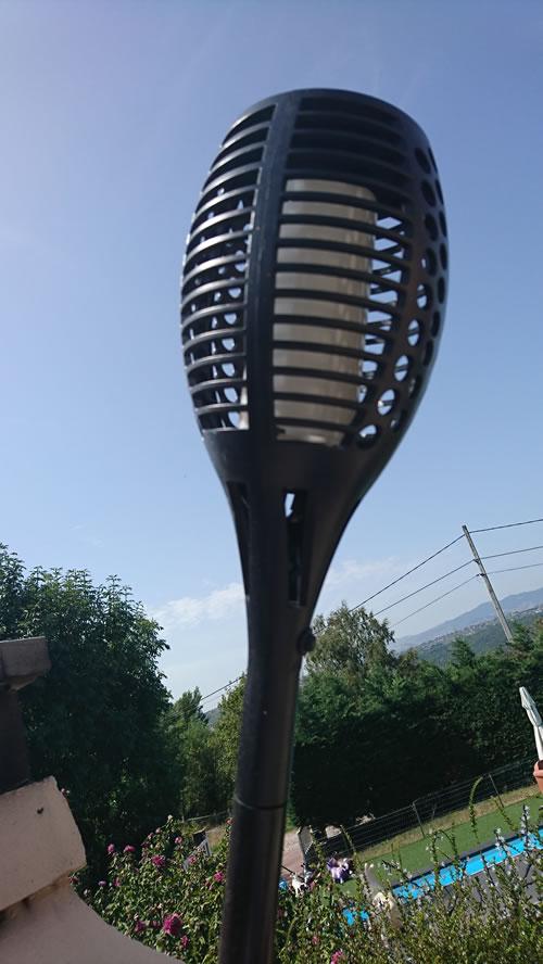 Torche LED solaire