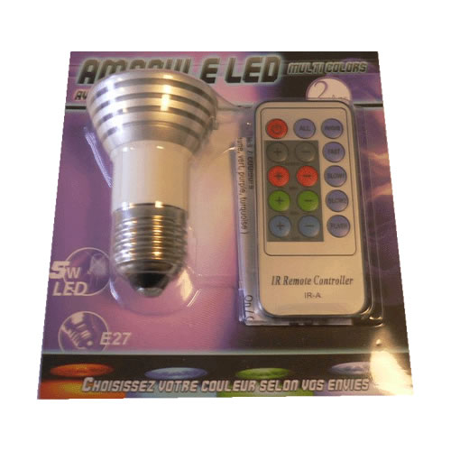 ampoule led couleur avec télécommande