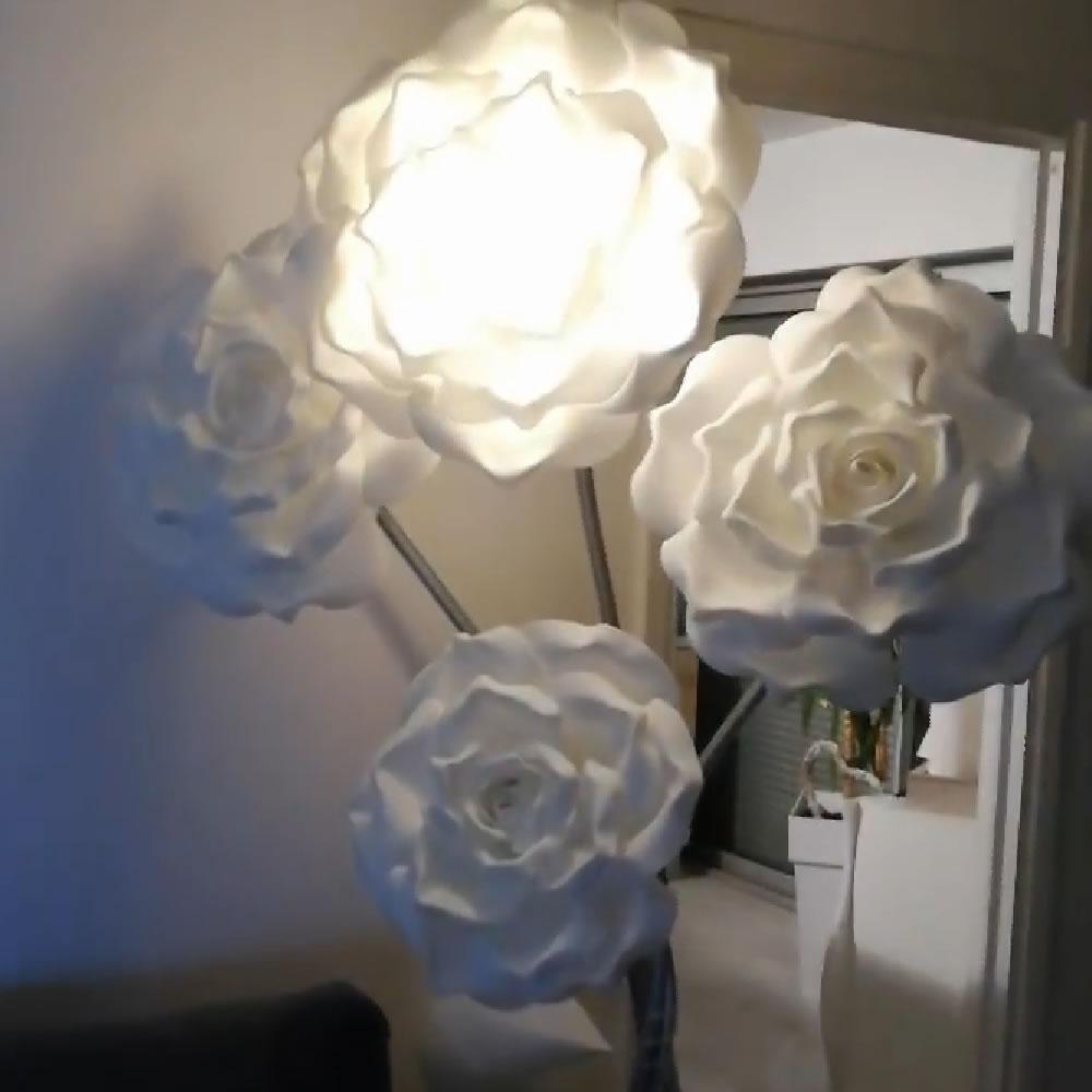 Bouquet de fleurs lumineuses