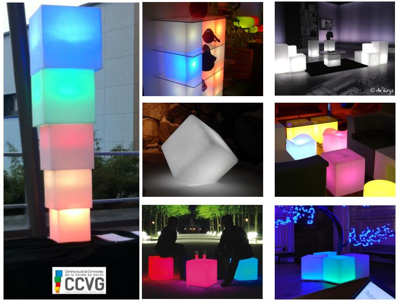 Utilisation des cubes lumineux