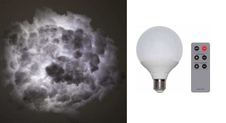 diy une jolie lampe led nuage le blog lux et d co. Black Bedroom Furniture Sets. Home Design Ideas