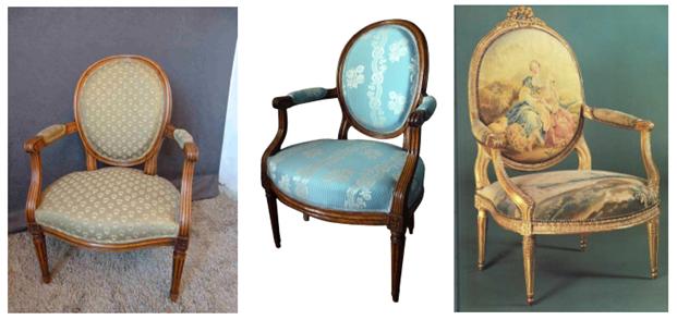 fauteuils baroques, déco rétro