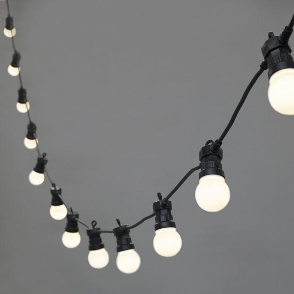 Guirlande guinguette avec ampoules LED E27