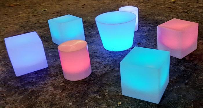 Cubes et table lumineux