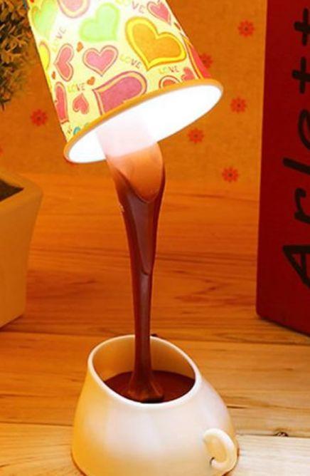 Lampe LED tasse à café