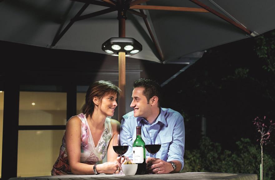 Lampe LED Quaseo pour parasols