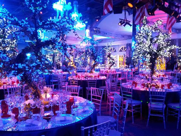 Location d'arbres lumineux pour une soirée
