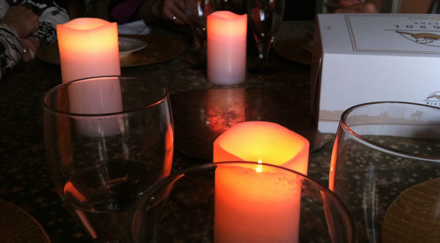 Bougies LED en cire 3 tailles avec télécommande