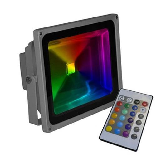 Projecteur LED RVB avec télécommande