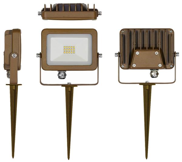 Projecteur LED Corten avec piquet