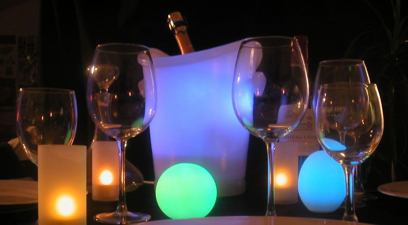 Les seaux à champagne lumineux