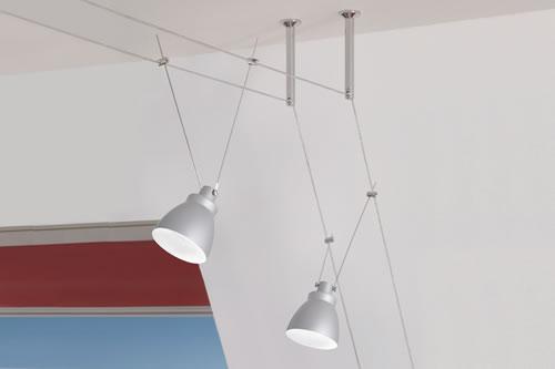 Spots LED sur câbles