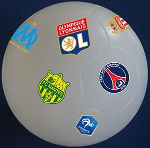 Ballon de foot lumineux personnalisable, OL, PSG, OM