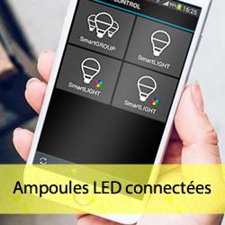 Ampoules LED connectées