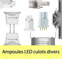 Ampoules LED G24, E40, G53, BA15d, G12, MR11