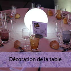 Décoration de la table