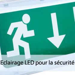 Eclairage LED pour la sécurité