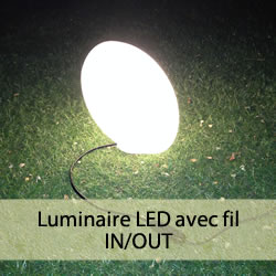 Luminaires LED avec fil IN/OUT