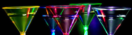 Verre à cocktail lumineux