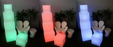 Cubes lumineux Kubb