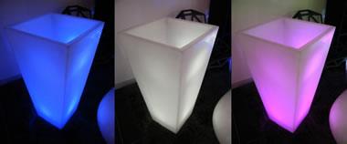 Pots lumineux carrés Louxor