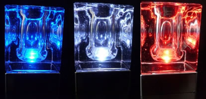 Centre de table rechargeable Crystal