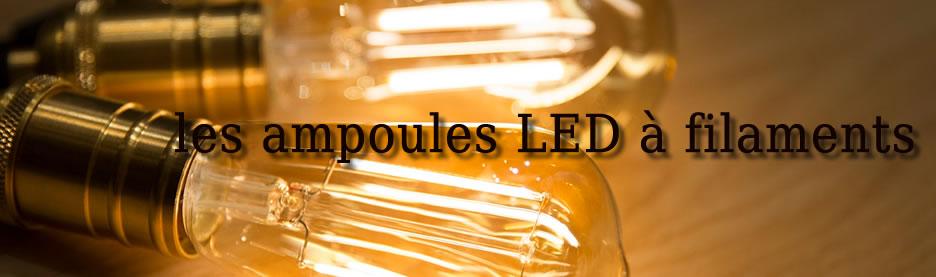 AMPOULES LED A FILAMENT