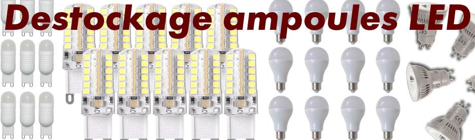 DESTOCKAGE AMPOULES LED
