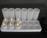 Plateau 12 bougies led