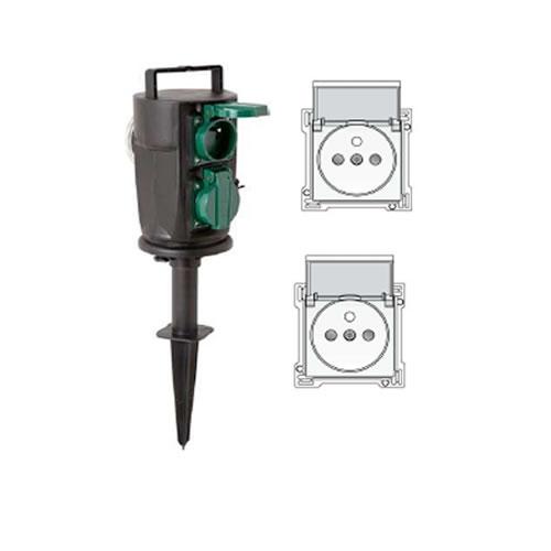 Prises sur piquet pour l 39 exterieur accessoires de montage for Norme ip44 exterieur