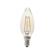 AMPOULE LED FLAMME E14 AMBRE A FILAMENT