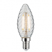 AMPOULE LED E14 FLAMME TORSADE CLAIR