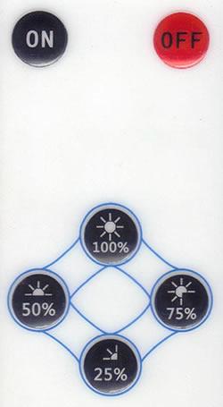 Télécommande pour ampoule LED rechargeable
