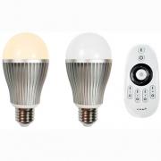 PACK 2 AMPOULES LED E27 AVEC TELECOMMANDE