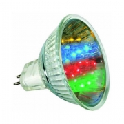 AMPOULE 20 LEDS COULEURS MR16 GU5.3