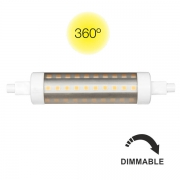 AMPOULE LED R7S TUBULAR 118MM DIMMABLE