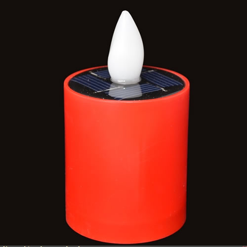 bougie led solaire rouge dur e 20h. Black Bedroom Furniture Sets. Home Design Ideas