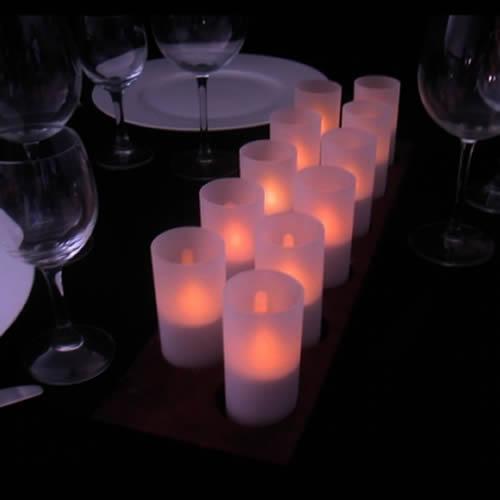 bougie led piles 5 couleurs avec photophore. Black Bedroom Furniture Sets. Home Design Ideas