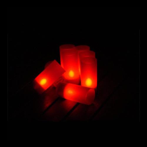 Bougie led rechargeable plateau de 12 bougies rouges - Bougie led rechargeable ...
