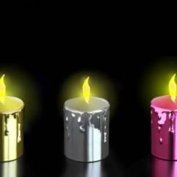 BOUGIE LED IMITATION CIRE ROUGE