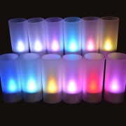 PLATEAU 12 BOUGIES LED MULTICOLORES