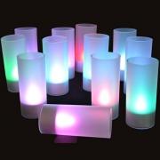 PLATEAU 12 BOUGIES LED CHANGEMENT DE COULEURS
