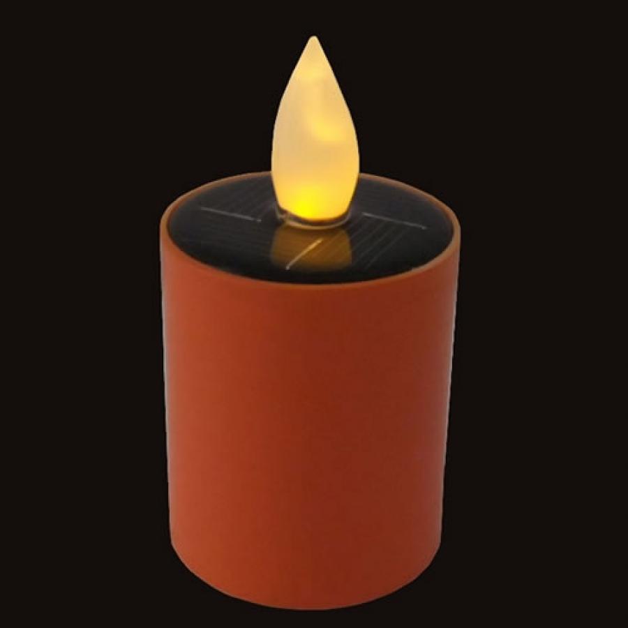 bougie led solaire orange dur e 20h. Black Bedroom Furniture Sets. Home Design Ideas