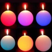 BOUGIE LED EN CIRE MAGIQUE : BOULE