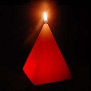 BOUGIE LED EN CIRE MAGIQUE : PYRAMIDE