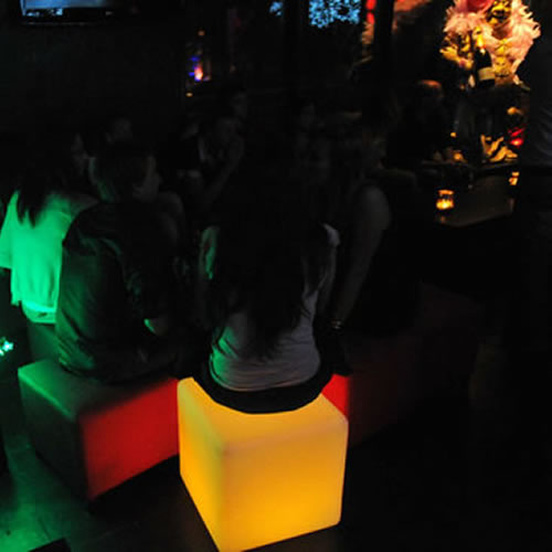 Cube Pouf Lumineux Led Opalia Cubes Lumineux Sans Fil